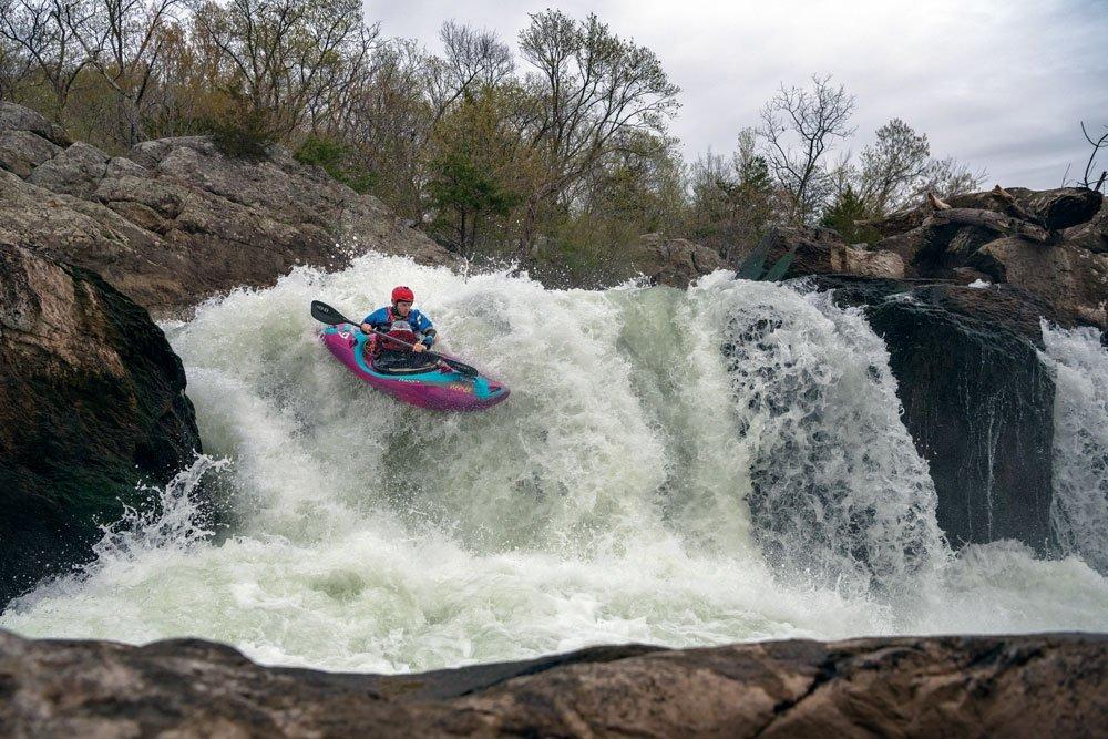 Whitewater kayaking on the Potomac River