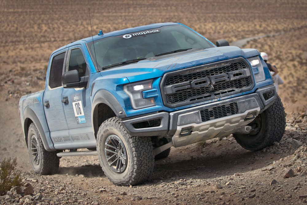 Rebelle Rally women Sarah Homer and Lindsey Hunter with their Ford Raptor