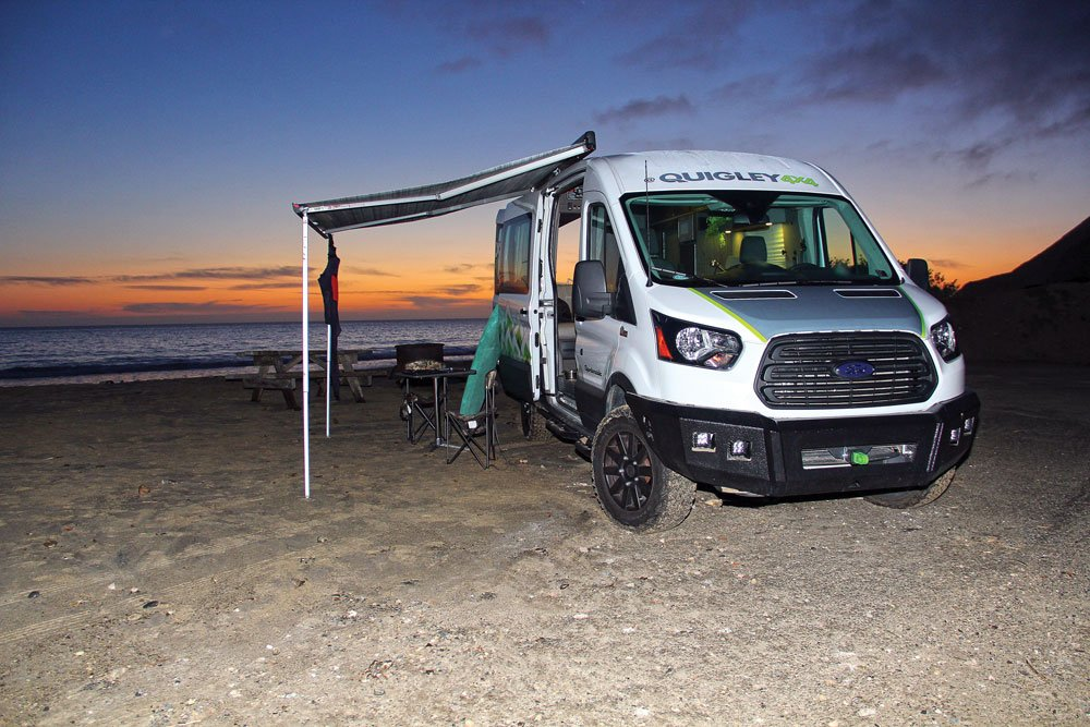 Quigley 4x4 van with awning