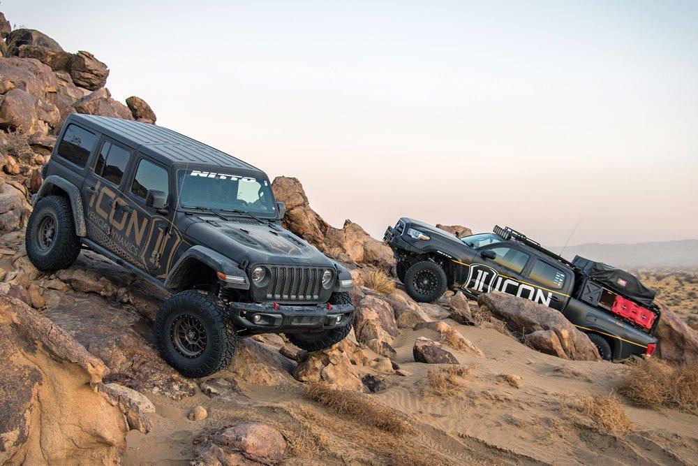 ICON Vehicle Dynamics' vehicles rock crawling