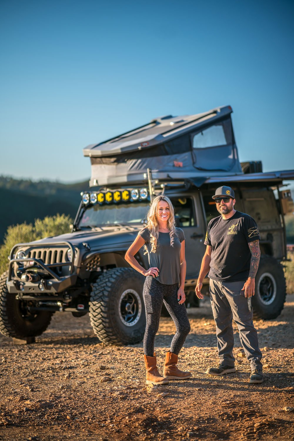 Yolo and Yeti with their Adventure Dream Rig