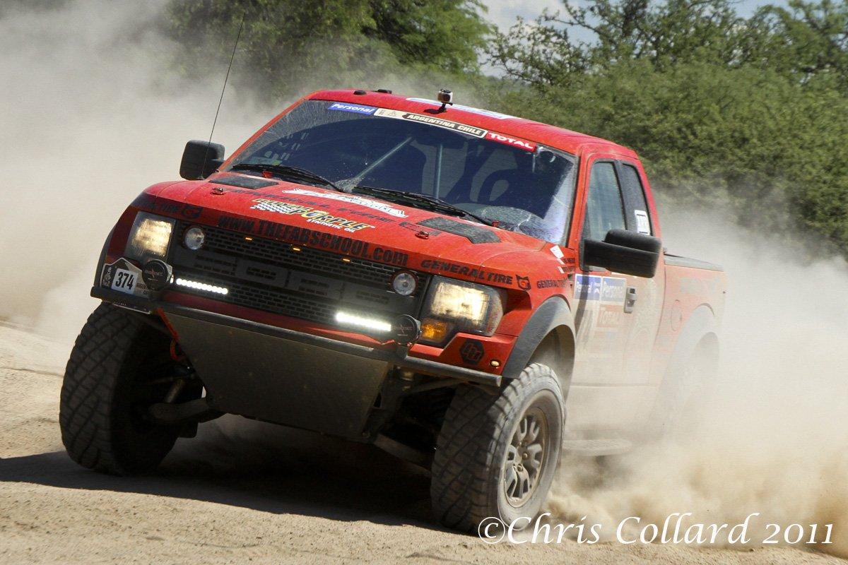 Ford Raptor Competing in Dakar Race