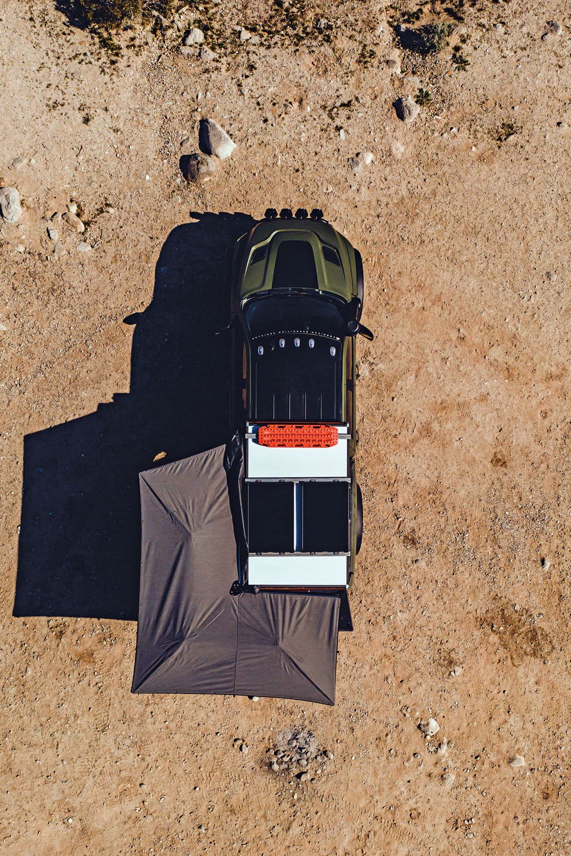 Bird's-eye view of AEV Prospector XL