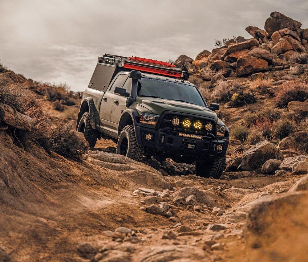 2018 Dodge Ram AEV Prospector XL rock climbing