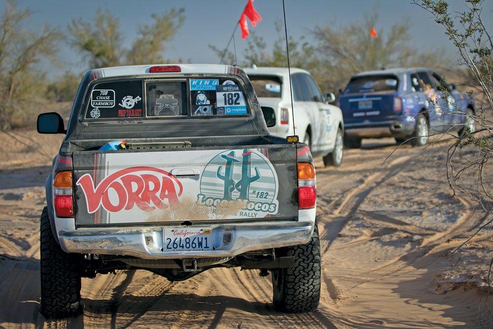 VORRA represented on the tailgate of Team Locos Mocos Rebelles