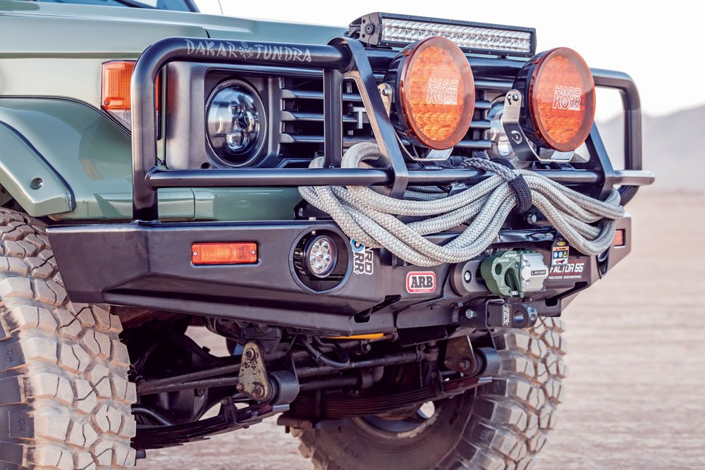 ARB bull bar on Land Cruiser Troopy