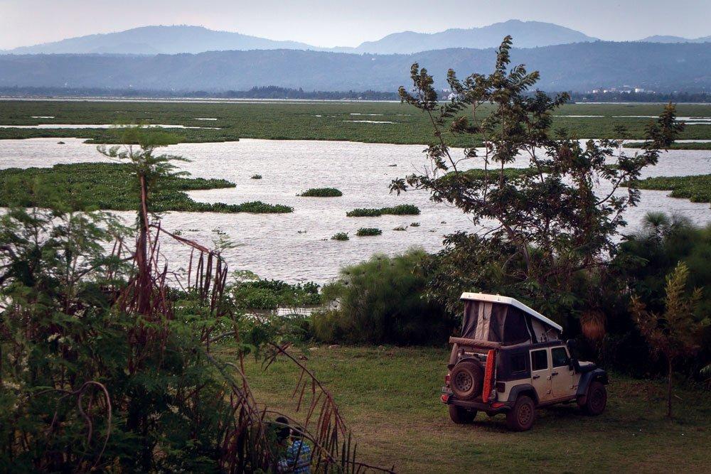 Jeep camping in Kenya
