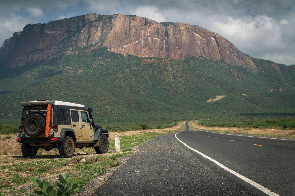 Northern Kenya rocky mountains