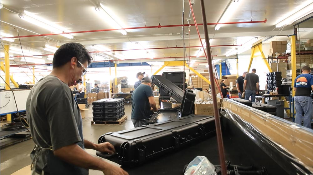 SKB iSeries cases manufacturing facility