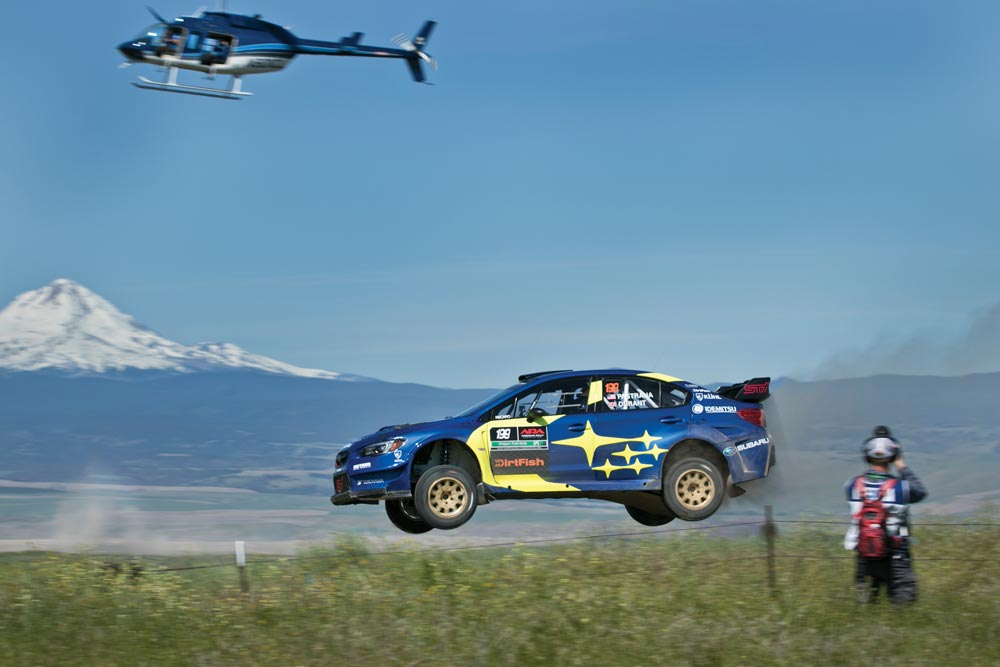 Travis Pastrana jumped a 134 feet at Boyd jump at the Oregon Trail Rally