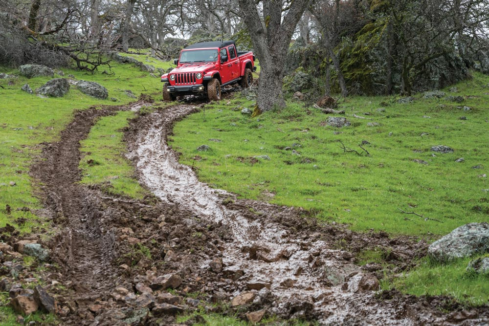This Jeep has no problem going through mud
