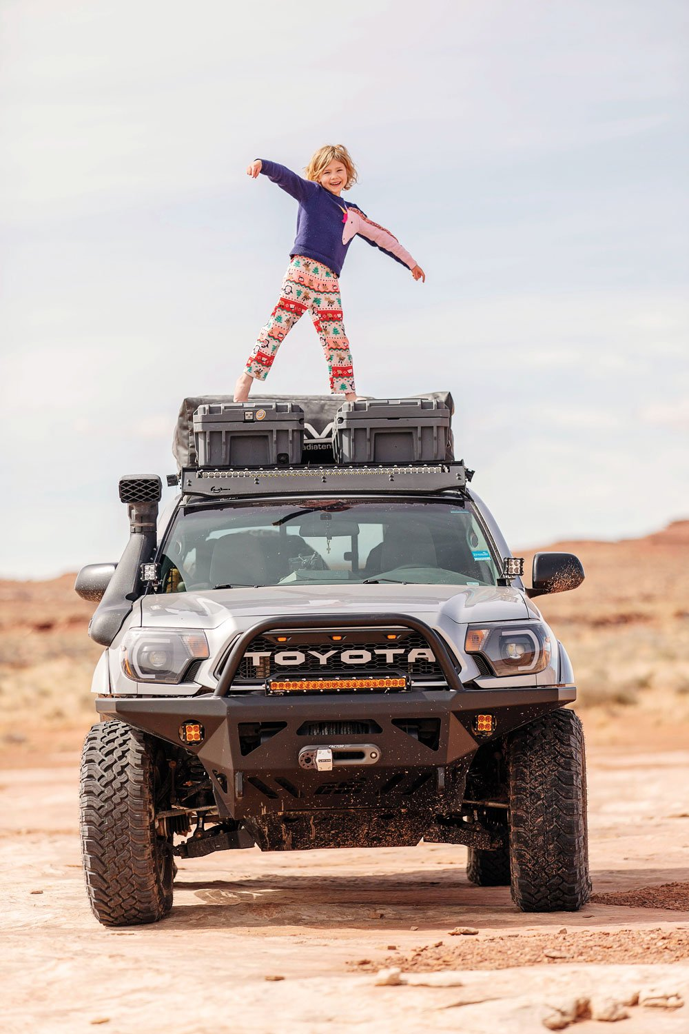 The kids enjoy traveling in the Tacoma TRD as much as Dad