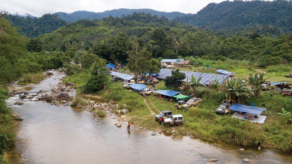 The village of Pos Gop near the Thai border