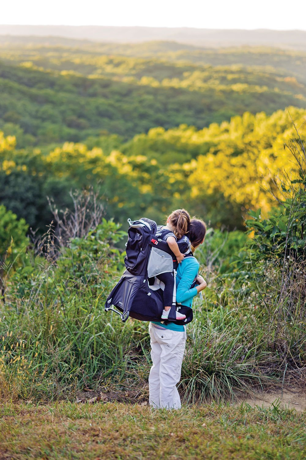 Backpack carrier for a long walk or hike
