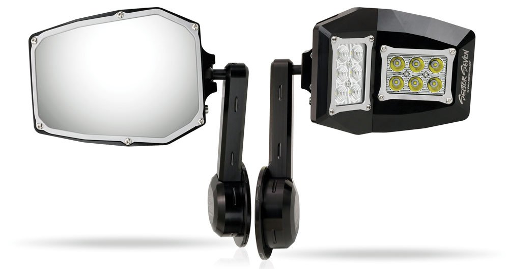 Sector Seven Spectrum Lighted LED Mirrors for Jeep JK