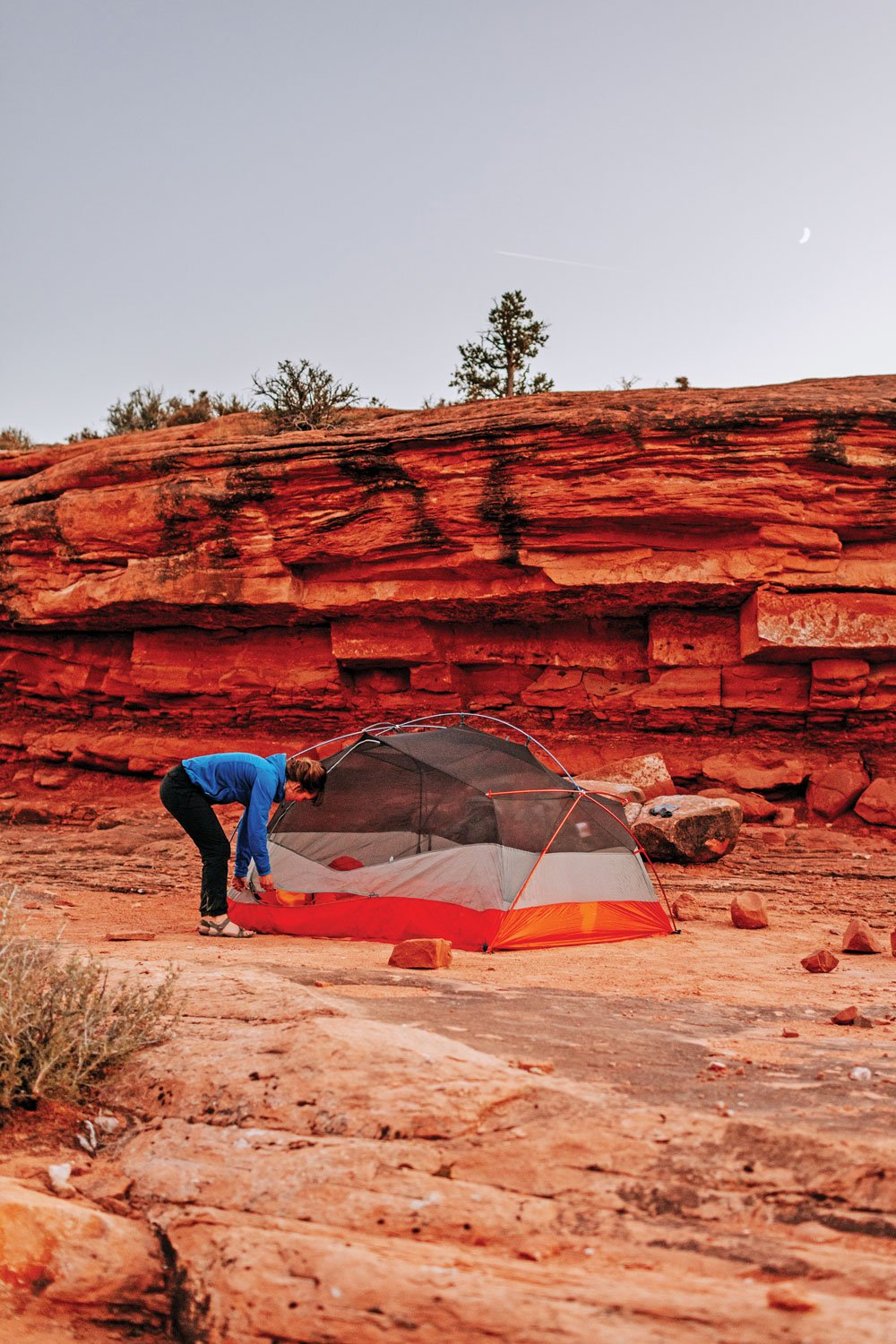 Slick Rock Sandstone makes an ideal camp spot