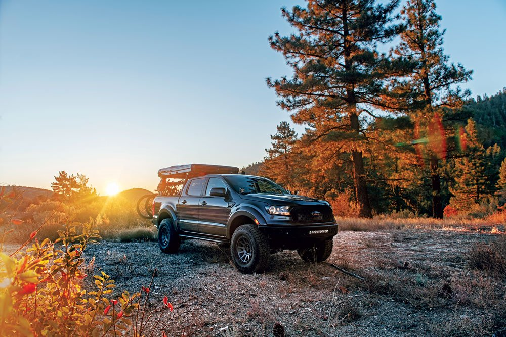 Beautiful sunset is the perfect backdrop to this Ford Ranger