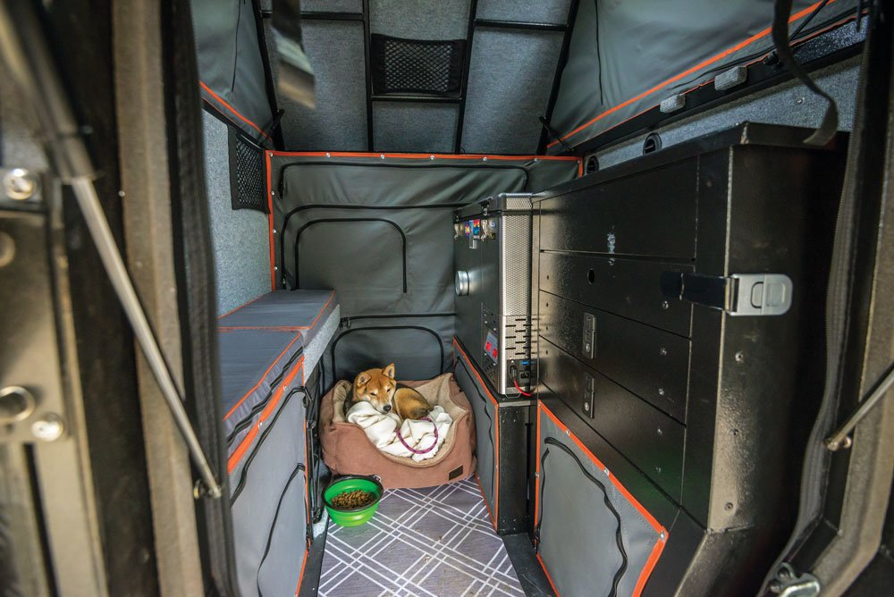 The Khaya Camper is a cozy home for pup and human alike