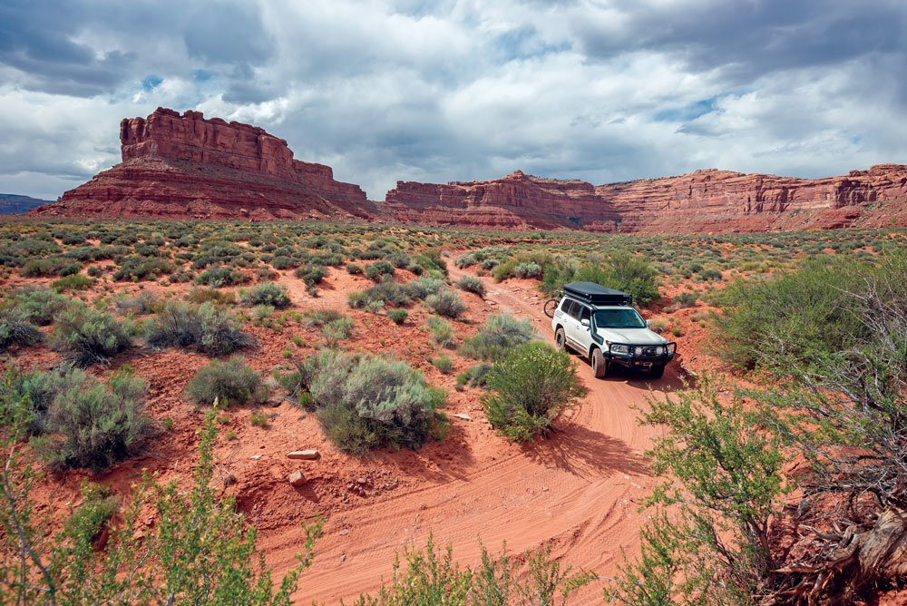 Driving down a remote dirt road