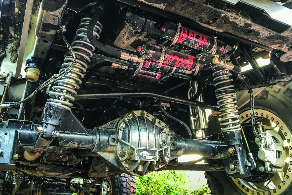 Jeep's underside suspension