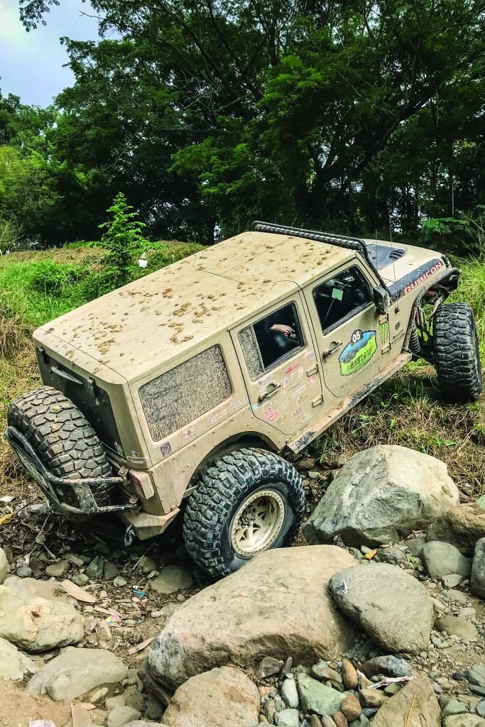 This Jeep is tough in off-road adventures