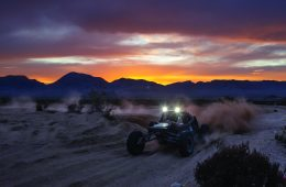 Mint 400 race at dusk