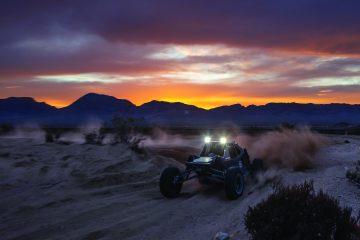 Mint 400 race at dusk