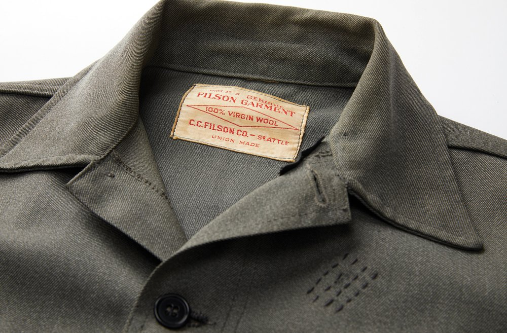 Newer jacket with the same genuine Filson garment tag inside