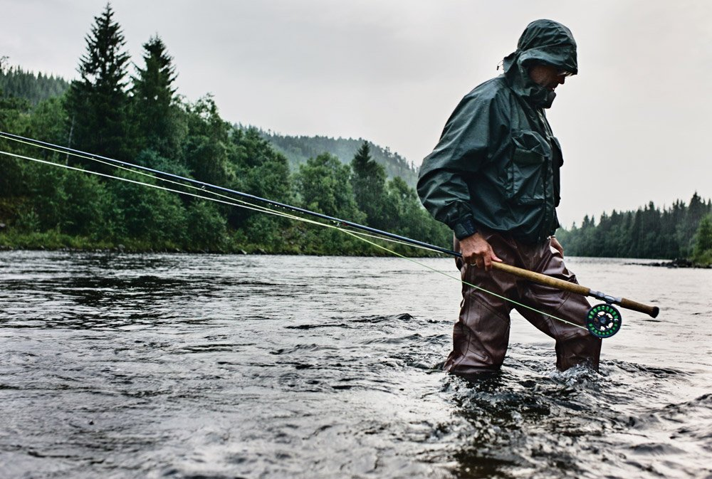 Using an 8-weight rod while fly-fishing