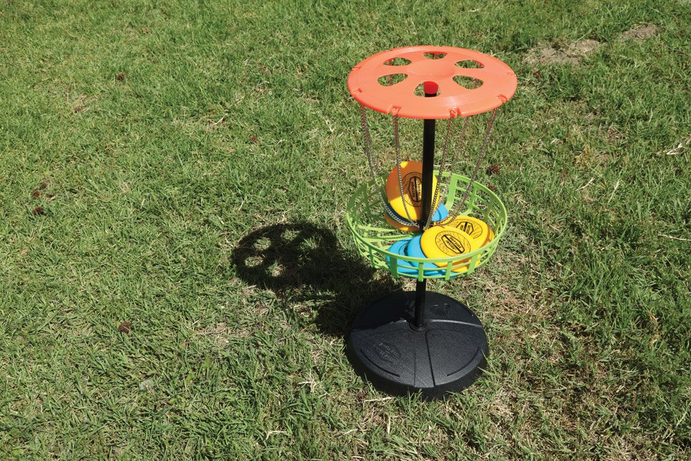Freestyle Disk Golf game set up and ready to play