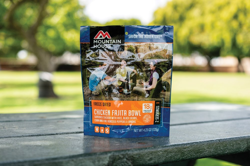 Mountain House Chicken Fajita Bowl packaged camp food