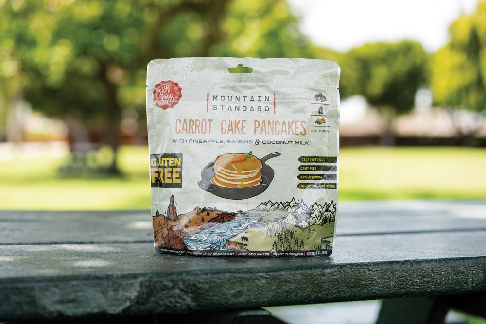 Mountain Standard Carrot Cake Pancakes packaged camp food