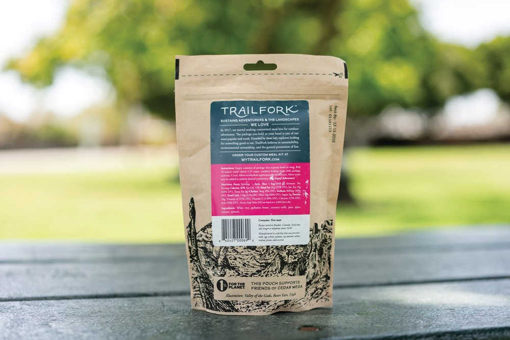 Trail Fork Coconut Chala Masala packaged camp food