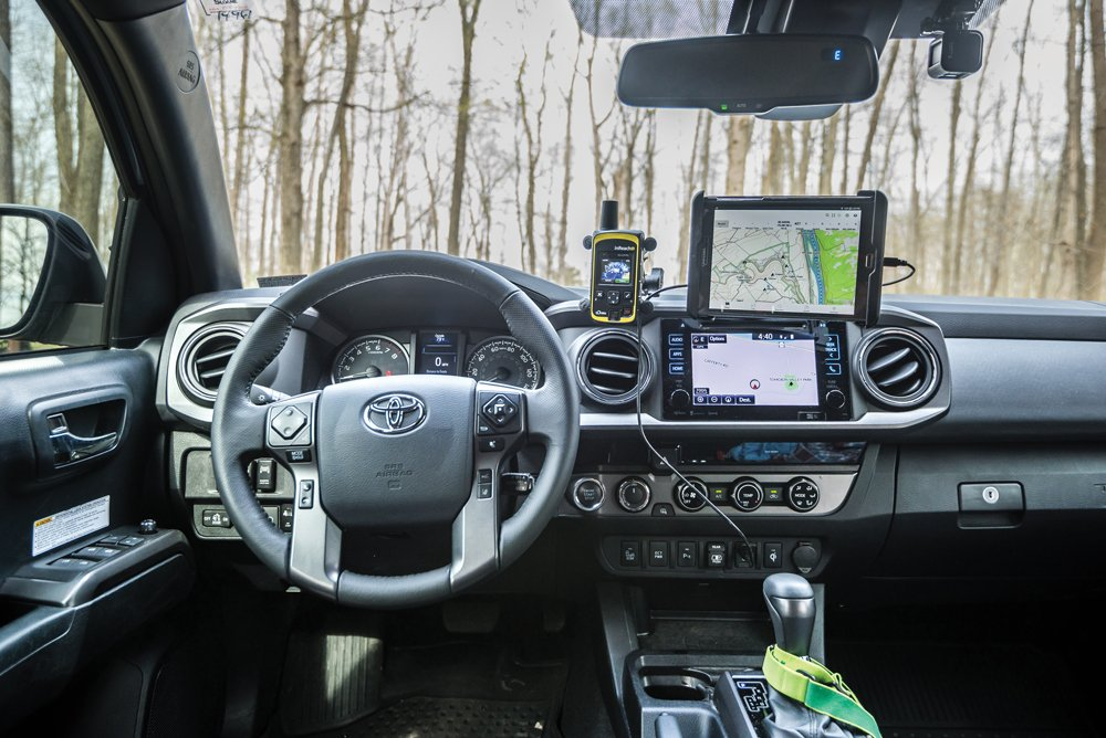 This Tacoma is prepared with Comms and navigation within reach