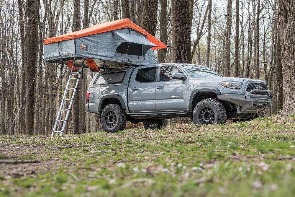 Camp ready with this roof top tent