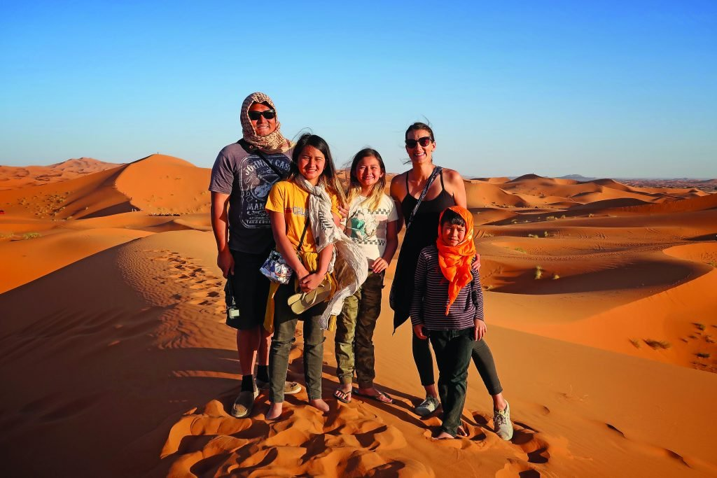 Family portrait in the Sahara Desert