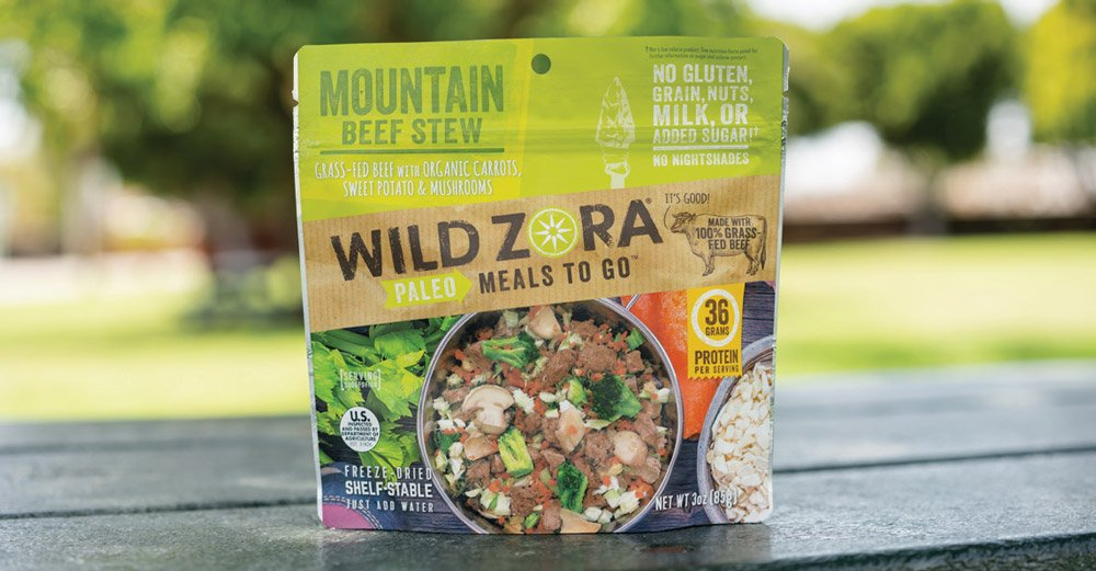 Wild Zora Mountain Beef Stew packaged camp food