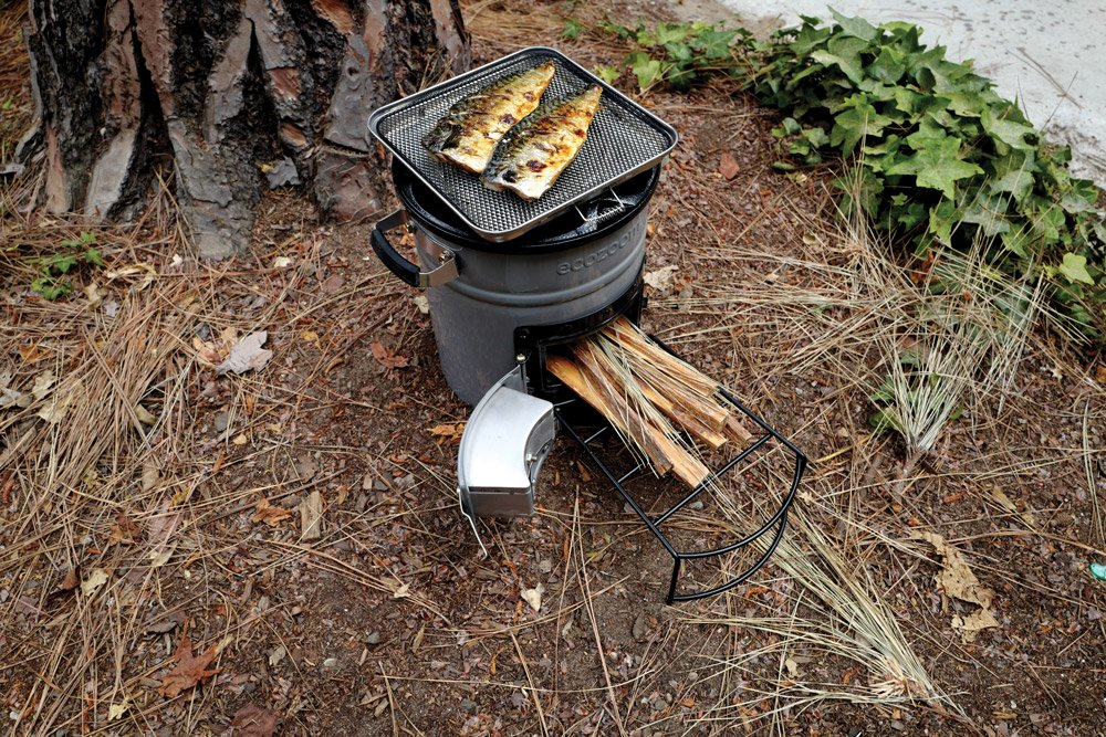 The EcoZoom Versa Stove was developed for burning charcoal, wood, or any biomass fuel