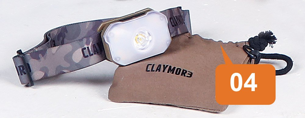 outdoor equipment Claymore Heady2 Rechargeable Headlamp