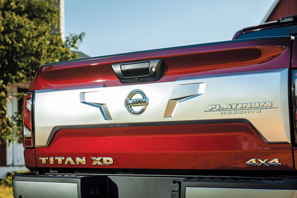 The Platinum Reserve trim level on the Titan XD