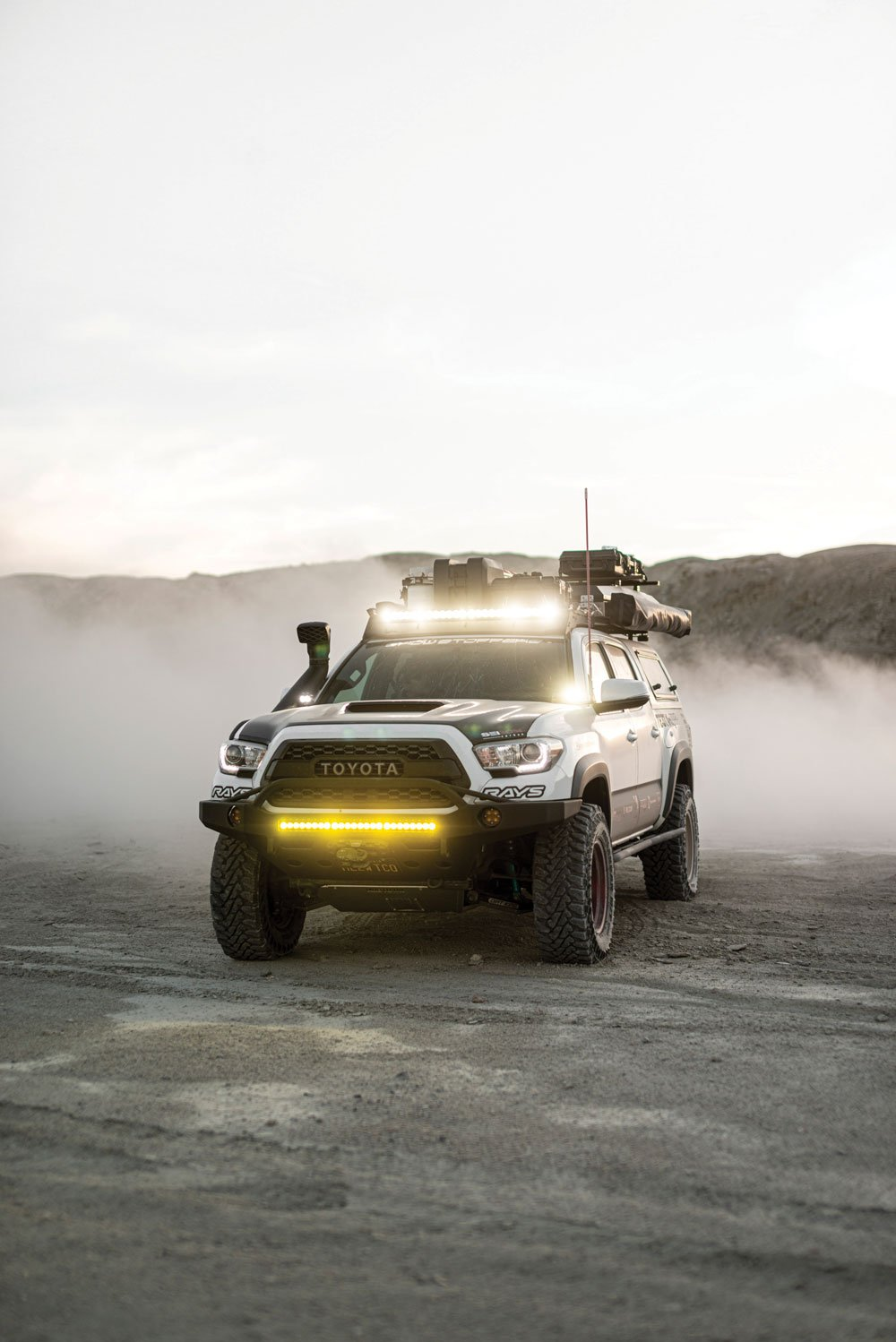 Baja Designs' light coverage in the dark and through the dust
