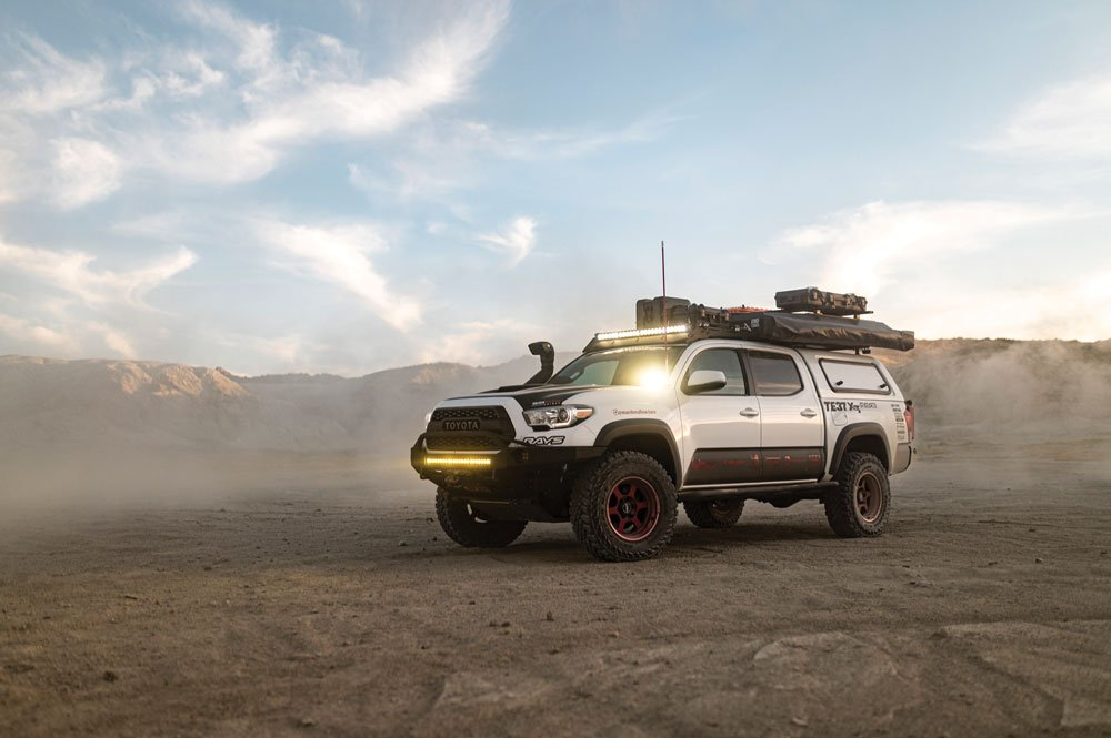 This Toyota Tacoma is the perfect home away from home