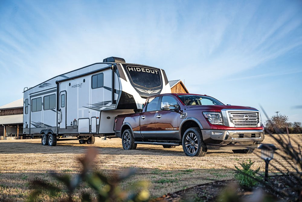The 2020 Nissan Titan XD has been engineered to tow heavy loads