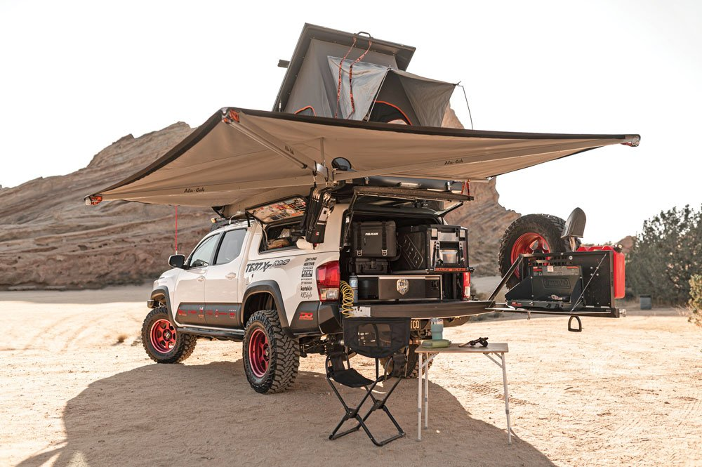 Set up to camp just about anywhere with highend gear