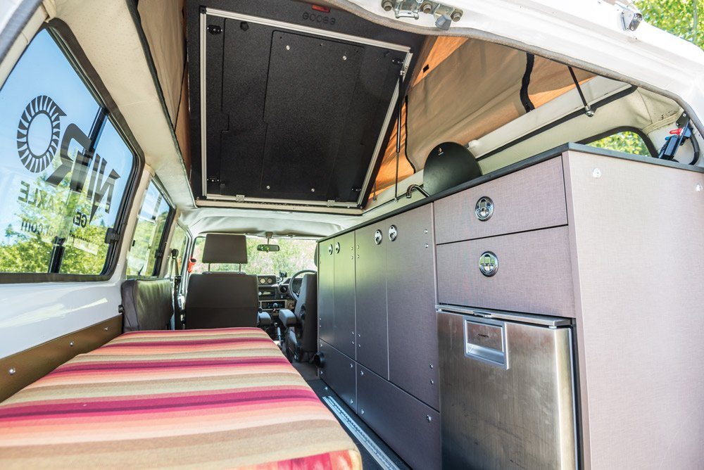 The compact camper system offers all the comforts of home