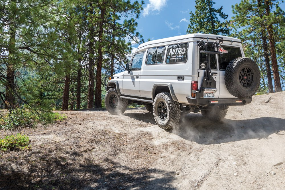 Dirt is no problem for this Trakka Troopy