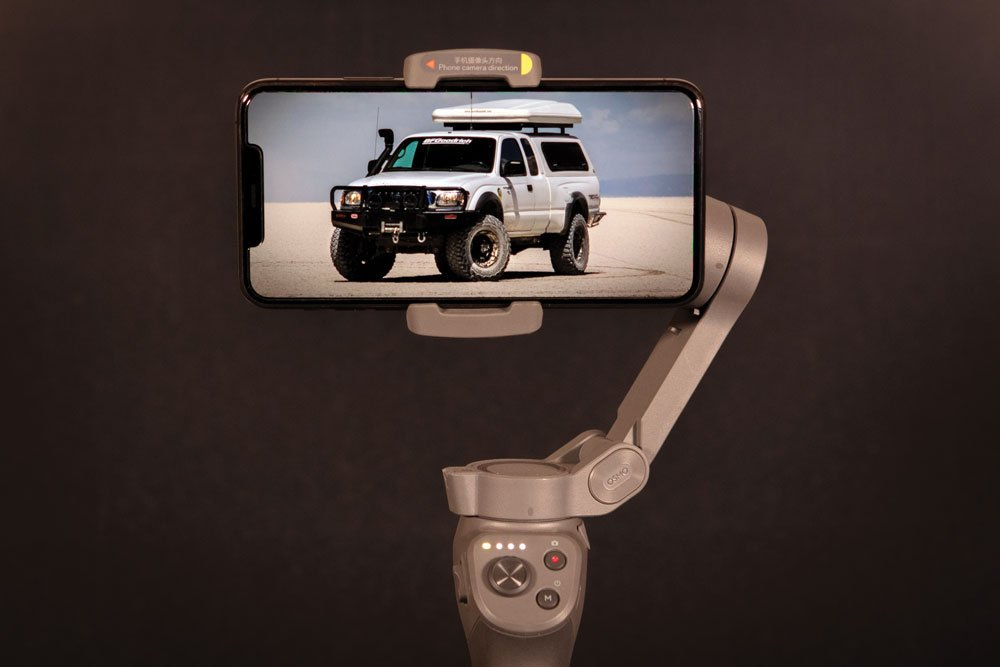 Incorporating a handheld gimble with your camera phone will allow you to capture rocksteady video