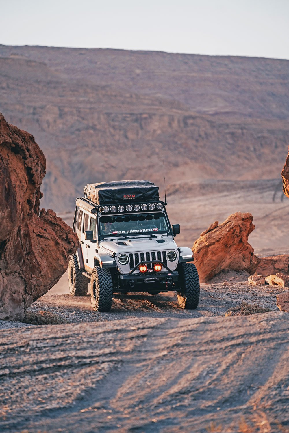 Jeep Wrangler JLU maneuvers easily in any terrain