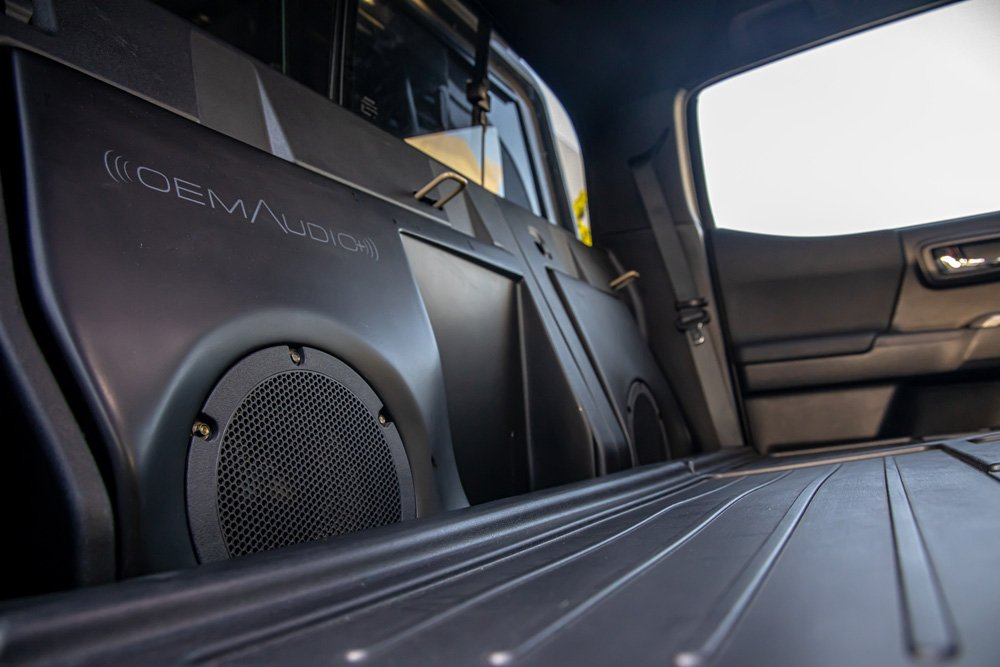 The Tacomabeast is outfitted with a great sound system