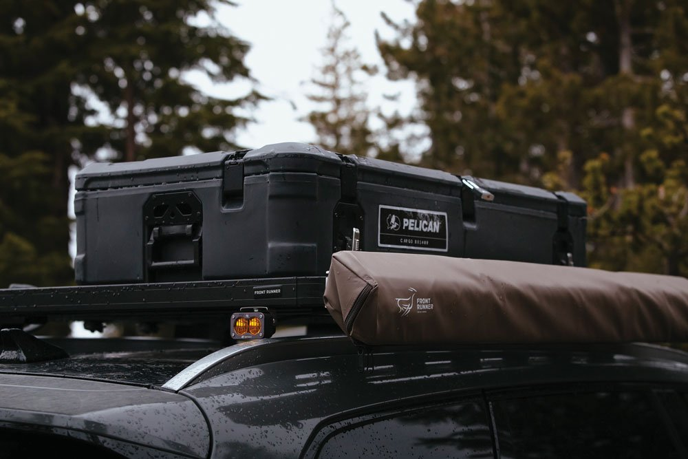 Pelican Cargo Cases are filled with camping equipment and recovery gear